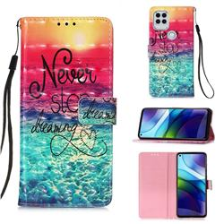 Colorful Dream Catcher 3D Painted Leather Wallet Case for Motorola Moto G Stylus 2021 5G