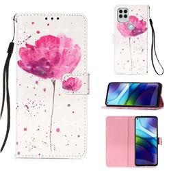 Watercolor 3D Painted Leather Wallet Case for Motorola Moto G Stylus 2021 5G