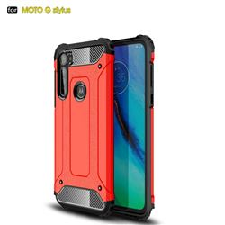 King Kong Armor Premium Shockproof Dual Layer Rugged Hard Cover for Motorola Moto G Stylus - Big Red