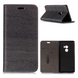 Tree Bark Pattern Automatic suction Leather Wallet Case for Xiaomi Mi Mix 2 - Gray