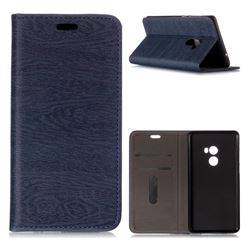 Tree Bark Pattern Automatic suction Leather Wallet Case for Xiaomi Mi Mix 2 - Blue