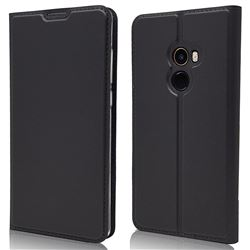 Ultra Slim Card Magnetic Automatic Suction Leather Wallet Case for Xiaomi Mi Mix 2 - Star Grey