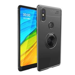 Auto Focus Invisible Ring Holder Soft Phone Case for Xiaomi Mi Mix 2S - Black