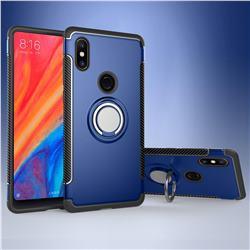 Armor Anti Drop Carbon PC + Silicon Invisible Ring Holder Phone Case for Xiaomi Mi Mix 2S - Sapphire