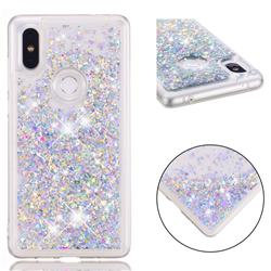 Dynamic Liquid Glitter Quicksand Sequins TPU Phone Case for Xiaomi Mi Mix 2S - Silver