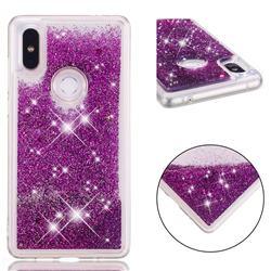Dynamic Liquid Glitter Quicksand Sequins TPU Phone Case for Xiaomi Mi Mix 2S - Purple