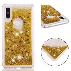 Dynamic Liquid Glitter Quicksand Sequins TPU Phone Case for Xiaomi Mi Mix 2S - Golden