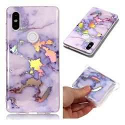 Blue Marble Pattern Bright Color Laser Soft TPU Case for Xiaomi Mi Mix 2S