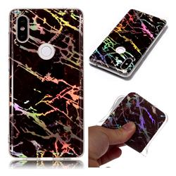 Black Brown Marble Pattern Bright Color Laser Soft TPU Case for Xiaomi Mi Mix 2S