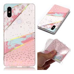 Matching Color Marble Pattern Bright Color Laser Soft TPU Case for Xiaomi Mi Mix 2S