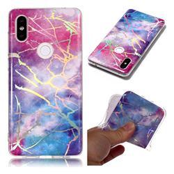 Dream Sky Marble Pattern Bright Color Laser Soft TPU Case for Xiaomi Mi Mix 2S