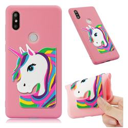 Rainbow Unicorn Soft 3D Silicone Case for Xiaomi Mi Mix 2S - Pink