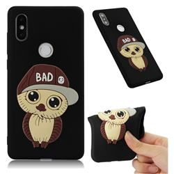 Bad Boy Owl Soft 3D Silicone Case for Xiaomi Mi Mix 2S - Black