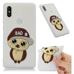 Bad Boy Owl Soft 3D Silicone Case for Xiaomi Mi Mix 2S - Translucent White