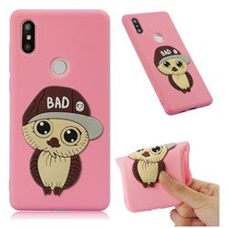 Bad Boy Owl Soft 3D Silicone Case for Xiaomi Mi Mix 2S - Pink
