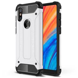 King Kong Armor Premium Shockproof Dual Layer Rugged Hard Cover for Xiaomi Mi Mix 2S - White
