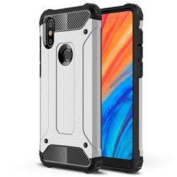 King Kong Armor Premium Shockproof Dual Layer Rugged Hard Cover for Xiaomi Mi Mix 2S - Technology Silver