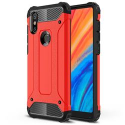 King Kong Armor Premium Shockproof Dual Layer Rugged Hard Cover for Xiaomi Mi Mix 2S - Big Red