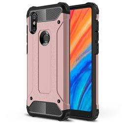 King Kong Armor Premium Shockproof Dual Layer Rugged Hard Cover for Xiaomi Mi Mix 2S - Rose Gold