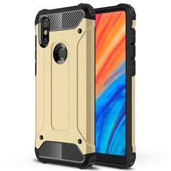 King Kong Armor Premium Shockproof Dual Layer Rugged Hard Cover for Xiaomi Mi Mix 2S - Champagne Gold