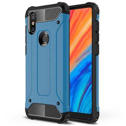 King Kong Armor Premium Shockproof Dual Layer Rugged Hard Cover for Xiaomi Mi Mix 2S - Sky Blue