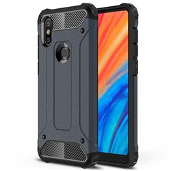 King Kong Armor Premium Shockproof Dual Layer Rugged Hard Cover for Xiaomi Mi Mix 2S - Navy