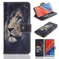Lion Face PU Leather Wallet Case for Xiaomi Mi Mix 2S