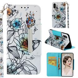 Fotus Flower Big Metal Buckle PU Leather Wallet Phone Case for Xiaomi Mi Mix 2S