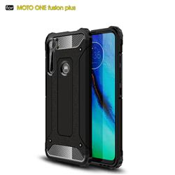 King Kong Armor Premium Shockproof Dual Layer Rugged Hard Cover for Motorola Moto One Fusion Plus - Black Gold