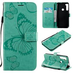 Embossing 3D Butterfly Leather Wallet Case for Motorola Moto One Fusion Plus - Green
