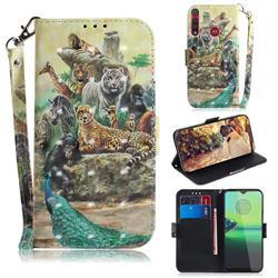 Beast Zoo 3D Painted Leather Wallet Phone Case for Motorola One Macro