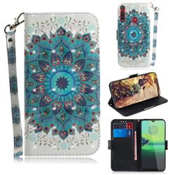 Peacock Mandala 3D Painted Leather Wallet Phone Case for Motorola One Macro