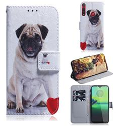Pug Dog PU Leather Wallet Case for Motorola One Macro