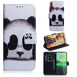 Sleeping Panda PU Leather Wallet Case for Motorola One Macro