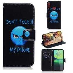 Not Touch My Phone PU Leather Wallet Case for Motorola One Macro