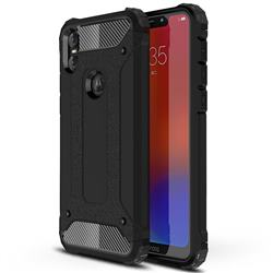 King Kong Armor Premium Shockproof Dual Layer Rugged Hard Cover for Motorola One (P30 Play) - Black Gold