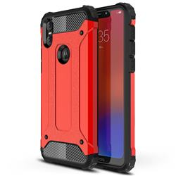 King Kong Armor Premium Shockproof Dual Layer Rugged Hard Cover for Motorola One (P30 Play) - Big Red