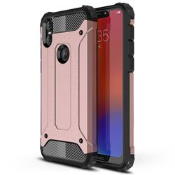 King Kong Armor Premium Shockproof Dual Layer Rugged Hard Cover for Motorola One (P30 Play) - Rose Gold