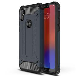 King Kong Armor Premium Shockproof Dual Layer Rugged Hard Cover for Motorola One (P30 Play) - Navy