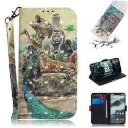 Beast Zoo 3D Painted Leather Wallet Phone Case for Motorola One (P30 Play)