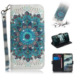 Peacock Mandala 3D Painted Leather Wallet Phone Case for Motorola One (P30 Play)