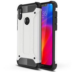 King Kong Armor Premium Shockproof Dual Layer Rugged Hard Cover for Motorola One Power (P30 Note) - White
