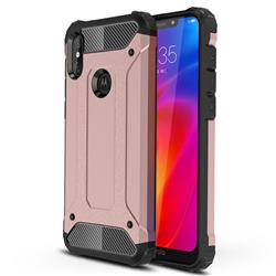 King Kong Armor Premium Shockproof Dual Layer Rugged Hard Cover for Motorola One Power (P30 Note) - Rose Gold