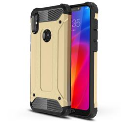 King Kong Armor Premium Shockproof Dual Layer Rugged Hard Cover for Motorola One Power (P30 Note) - Champagne Gold