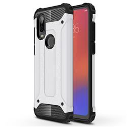 King Kong Armor Premium Shockproof Dual Layer Rugged Hard Cover for Motorola Moto P40 - White