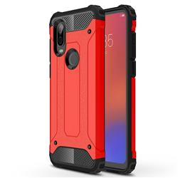 King Kong Armor Premium Shockproof Dual Layer Rugged Hard Cover for Motorola Moto P40 - Big Red