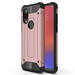 King Kong Armor Premium Shockproof Dual Layer Rugged Hard Cover for Motorola Moto P40 - Rose Gold