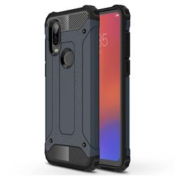 King Kong Armor Premium Shockproof Dual Layer Rugged Hard Cover for Motorola Moto P40 - Navy