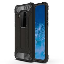 King Kong Armor Premium Shockproof Dual Layer Rugged Hard Cover for Motorola Moto P40 Note - Black Gold