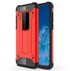 King Kong Armor Premium Shockproof Dual Layer Rugged Hard Cover for Motorola Moto P40 Note - Big Red
